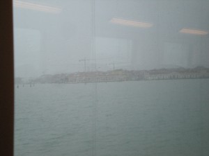 Venice from fast train