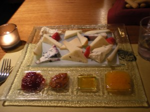 Cheese, fruit, honey Oniga