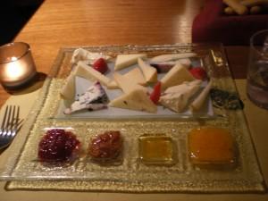 Cheese, fruit, honey Oniga