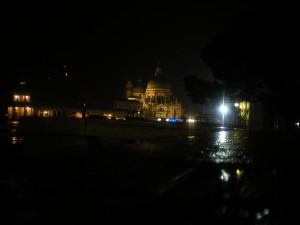 La Salute at night