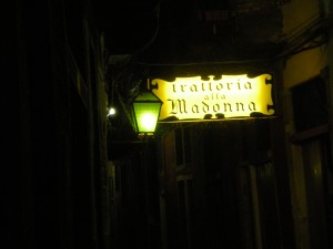 Sign and Lantern