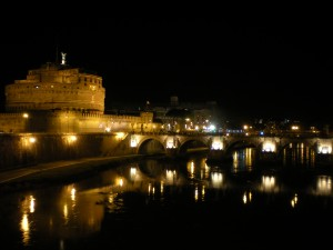 Tiber river view night