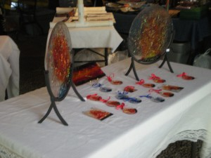 Firey glass art